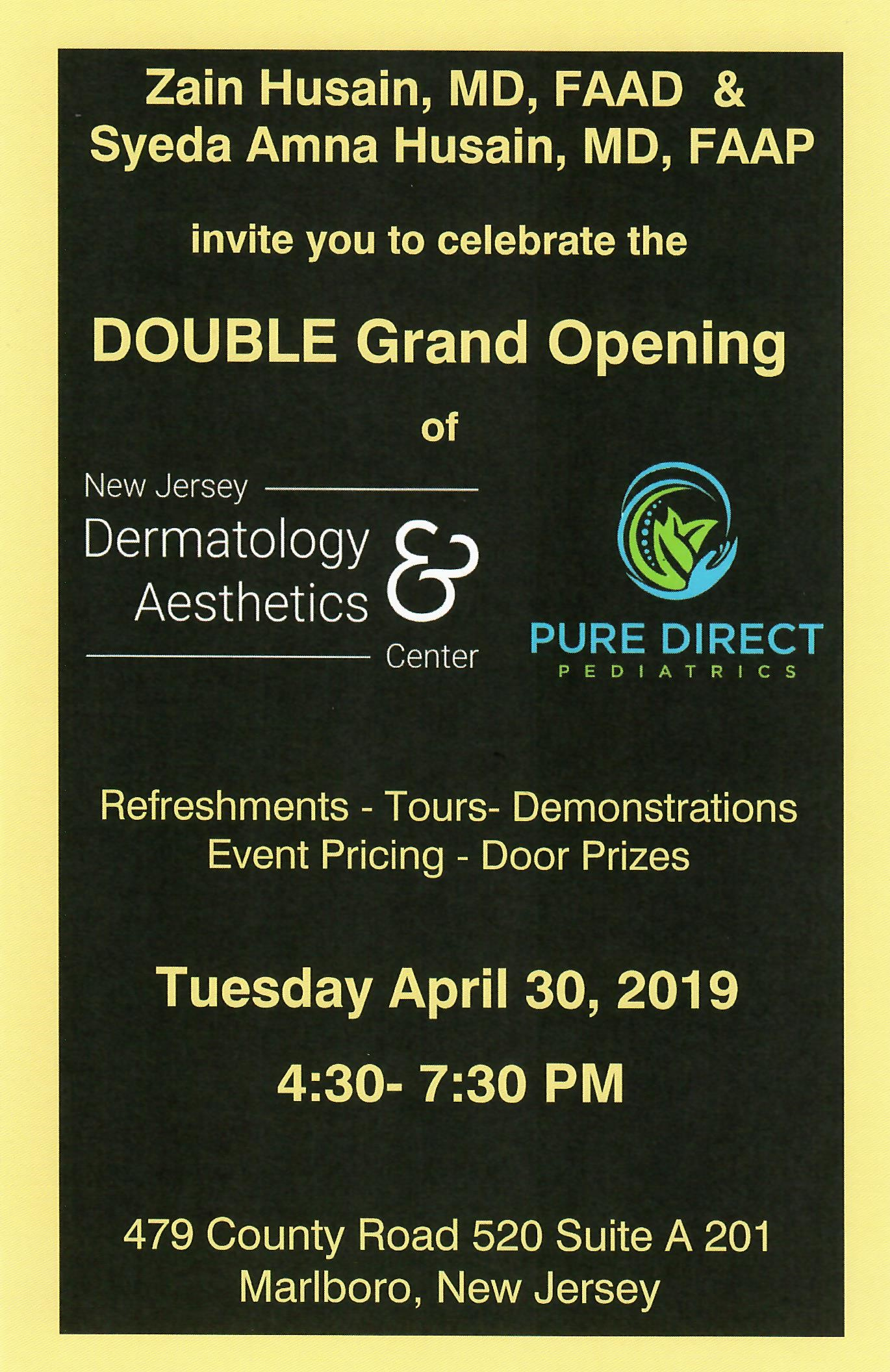 Double Grand Opening Tuesday April 30th 4 30pm 7 30pm
