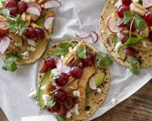 Chipotle Chicken Tacos with Grapes