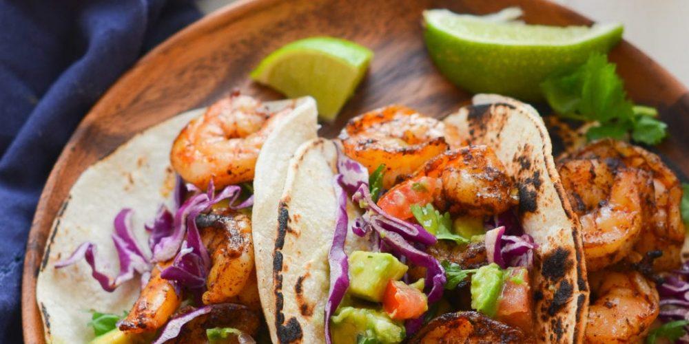 Grilled Shrimp Tacos with Avocado Salsa
