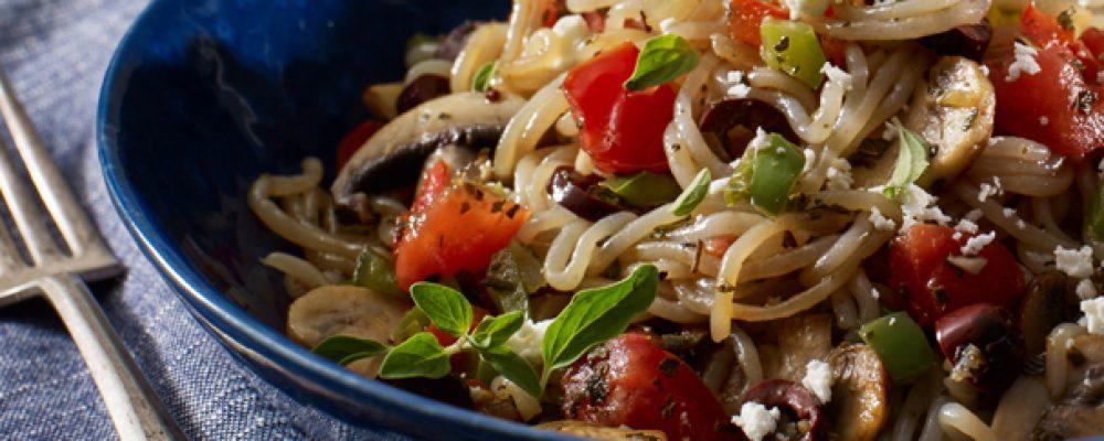 VEGAN Mediterranean Pasta