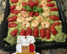 Pumped up Guacamole and Shrimp Appetizer